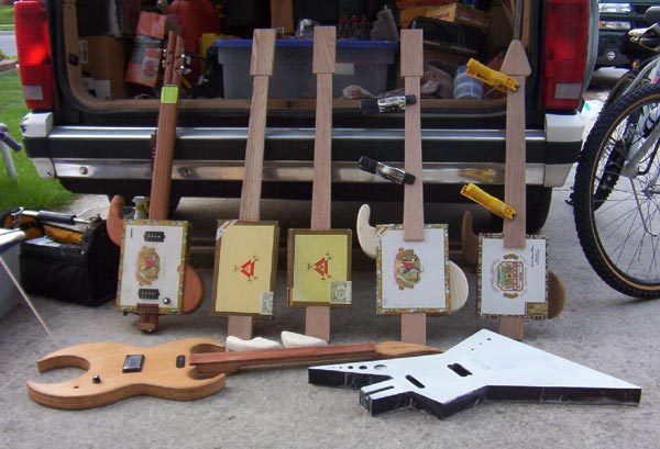 Ted Crocker USA Custom Guitars Cigar Box Guitars