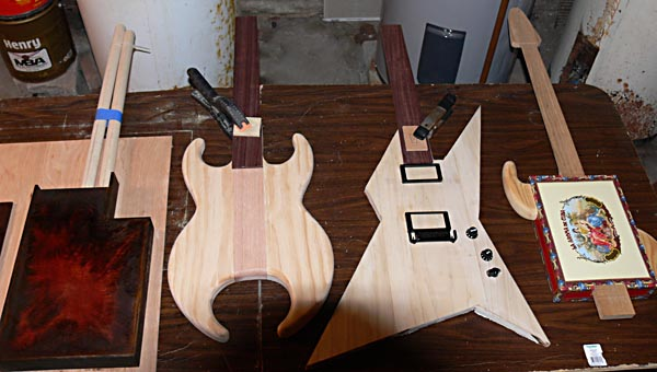 Ted Crocker Custom Guitars Progress Bench